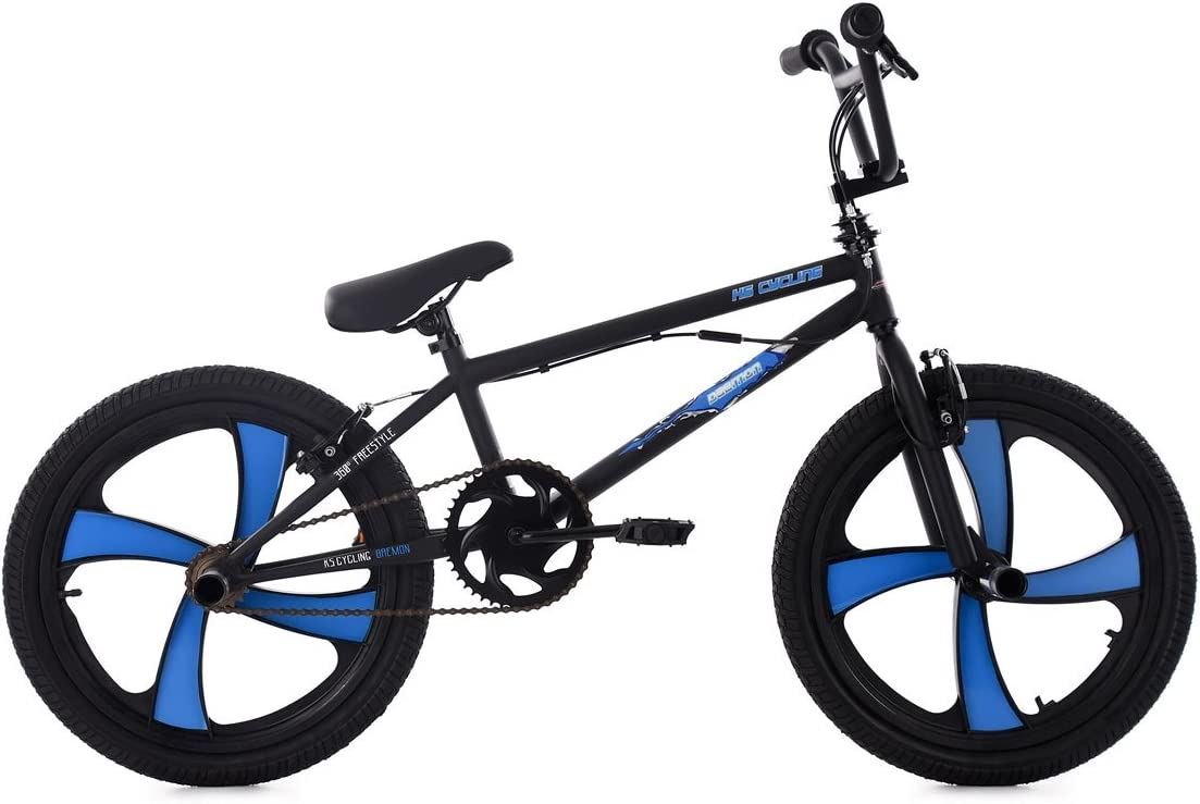 KS Cycling BMX Freestyle Daemon Bicicleta, Unisex Adulto, Negro ...