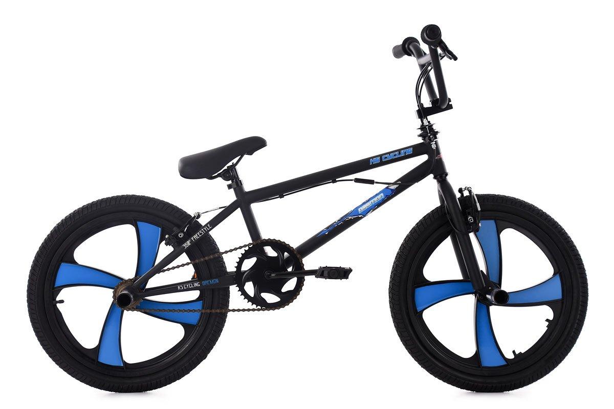 KS Cycling BMX Freestyle Daemon Fahrrad, schwarz-Blau, 20