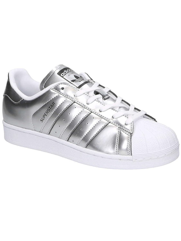 adidas Originals Women's Superstar Trainers Silver Metallic US7 Silver