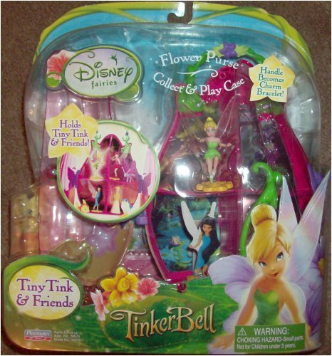 Playmates Toys Disney Fairies Tiny Tink & Friends Flower Purse Collect & Play Case ()
