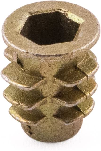 Tipo D con rosca de madera tuercas Insertar, cinc amarillo, M4/x 10, 100/unidades