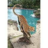 Stalking The Savannah Cheetah Statue Design Wild Cat Cats Garden Cat
