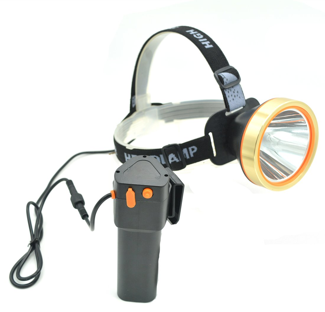 Eornmor LED Headlamp High Power Waterproof Rechargeable Headlight T6 Flashlight 15000mah 35W for Mining ,Camping, Hiking, Fishing,Hunting