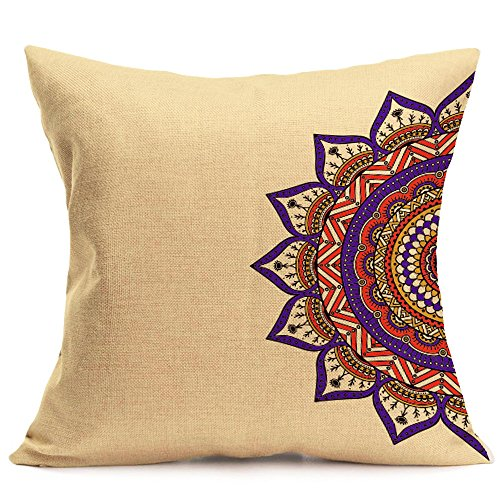 Respctful✿Exotic Striped Bohemia Pillow Shams Queen Size 1Pcs Cotton Thick Boho Pillow Cases Pillow Covers,43