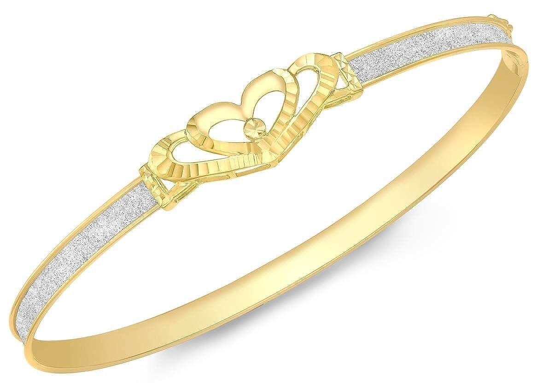 KJ Beckett pour Femme Cœur Bracelet–Jaune doré/argenté