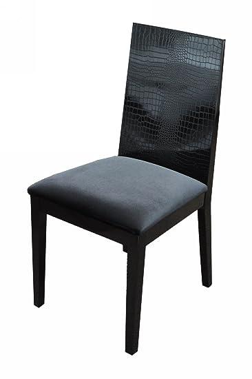 Au0026X Bridget Black Dining Chair (Set Of 2) Black/Lacquer