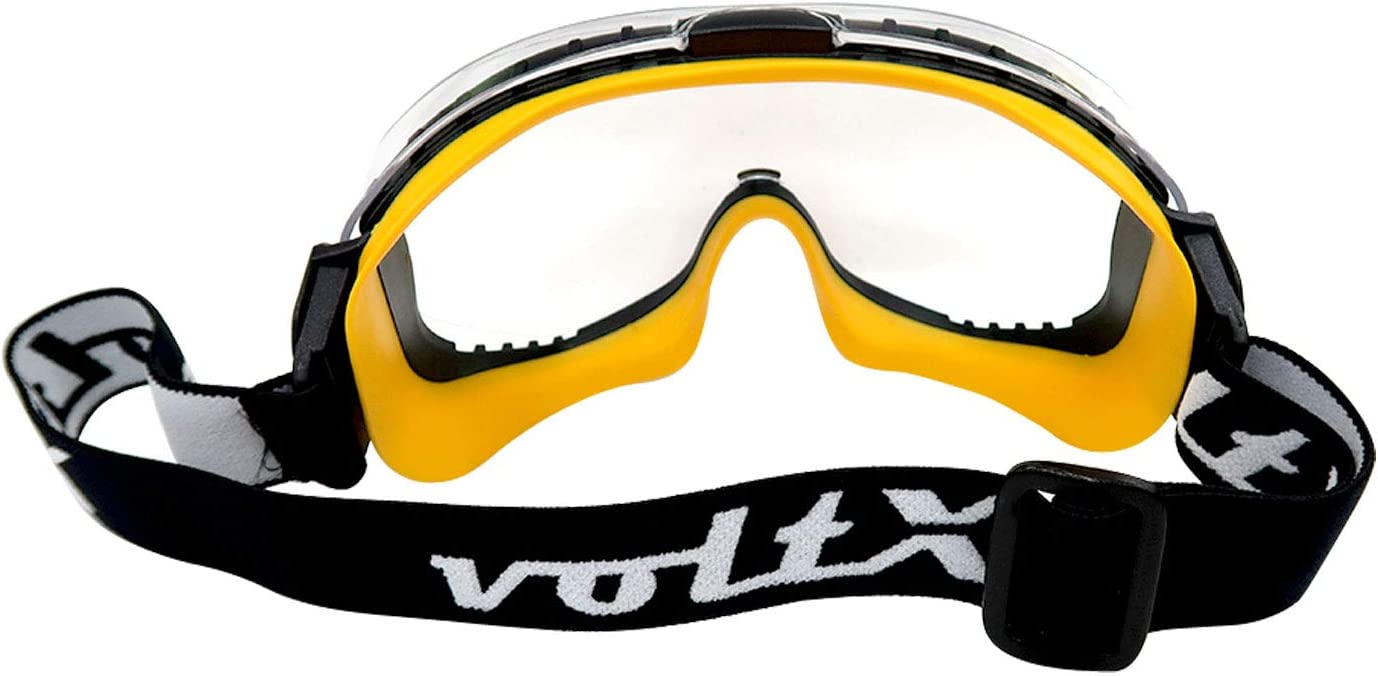 EN170 Certified CLEAR lens with snug fitting seal and buckle adjustable headband voltX DEFENDER ULTRA indirect ventilated Safety Goggles Anti fog /& Anti Scratch coated UV400 lens. CE EN166BT