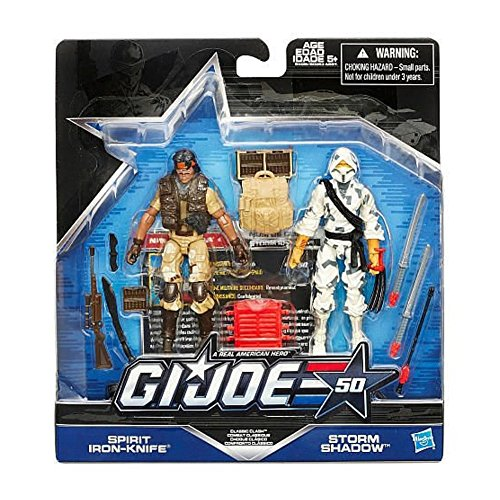 G.I. Joe, 50th Anniversary, Classic Clash Action Figure Set [Spirit Iron Knife vs. Storm Shadow], 3.75 Inches (Gi Joe Classic compare prices)