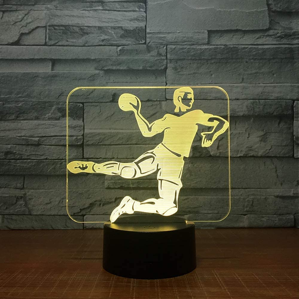 Novelty Lamp, Illusion Lamp geführt Night Licht Usb Powered 7 Colours Flashing Touch Switch Kids Pitch,Ambient Light