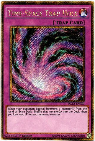 Yu Gi Oh Dark Hole - Yu-Gi-Oh! - TimeSpace Trap Hole (PGL3-EN039) - Premium Gold: Infinite Gold - 1st Edition - Gold Secret Rare