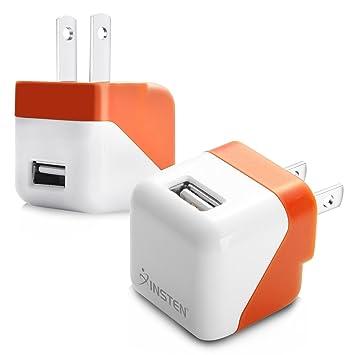 Amazon.com: Insten USB Mini cargador de viaje, naranja ...