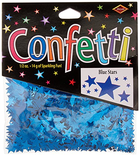 Beistle CN134 Blue Stars Confetti, 1/2-Ounce