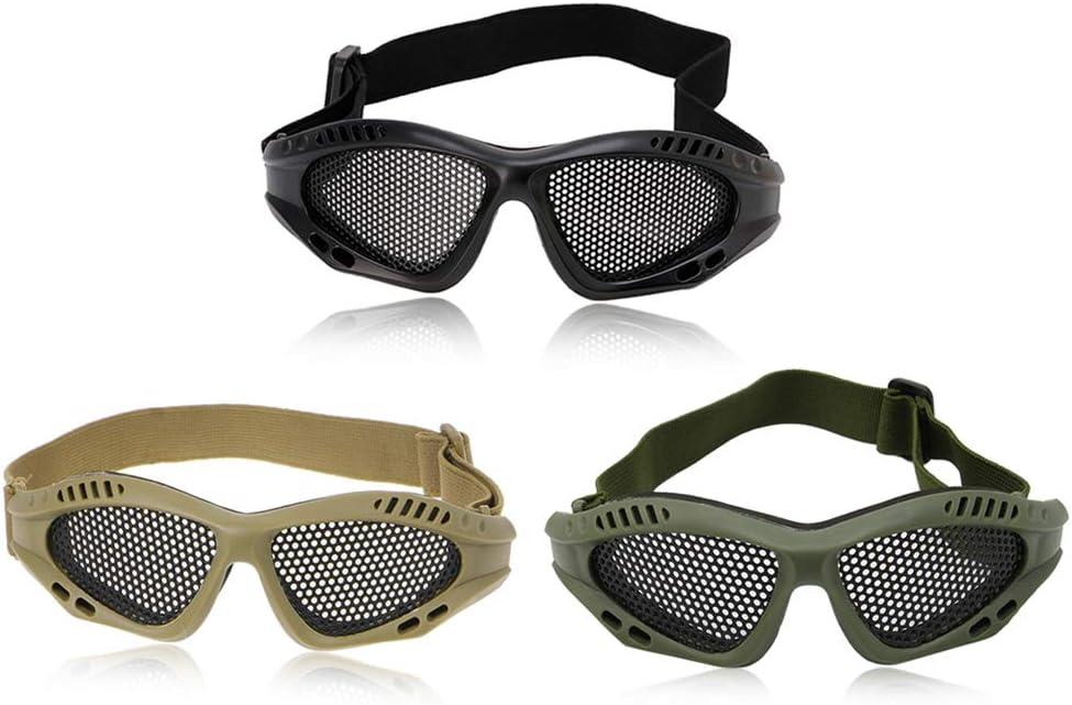 vert arm/ée Yintiod Tactical Lunettes de moto Airsoft Lunettes de protection des yeux en maille filet anti-bu/ée Couleur