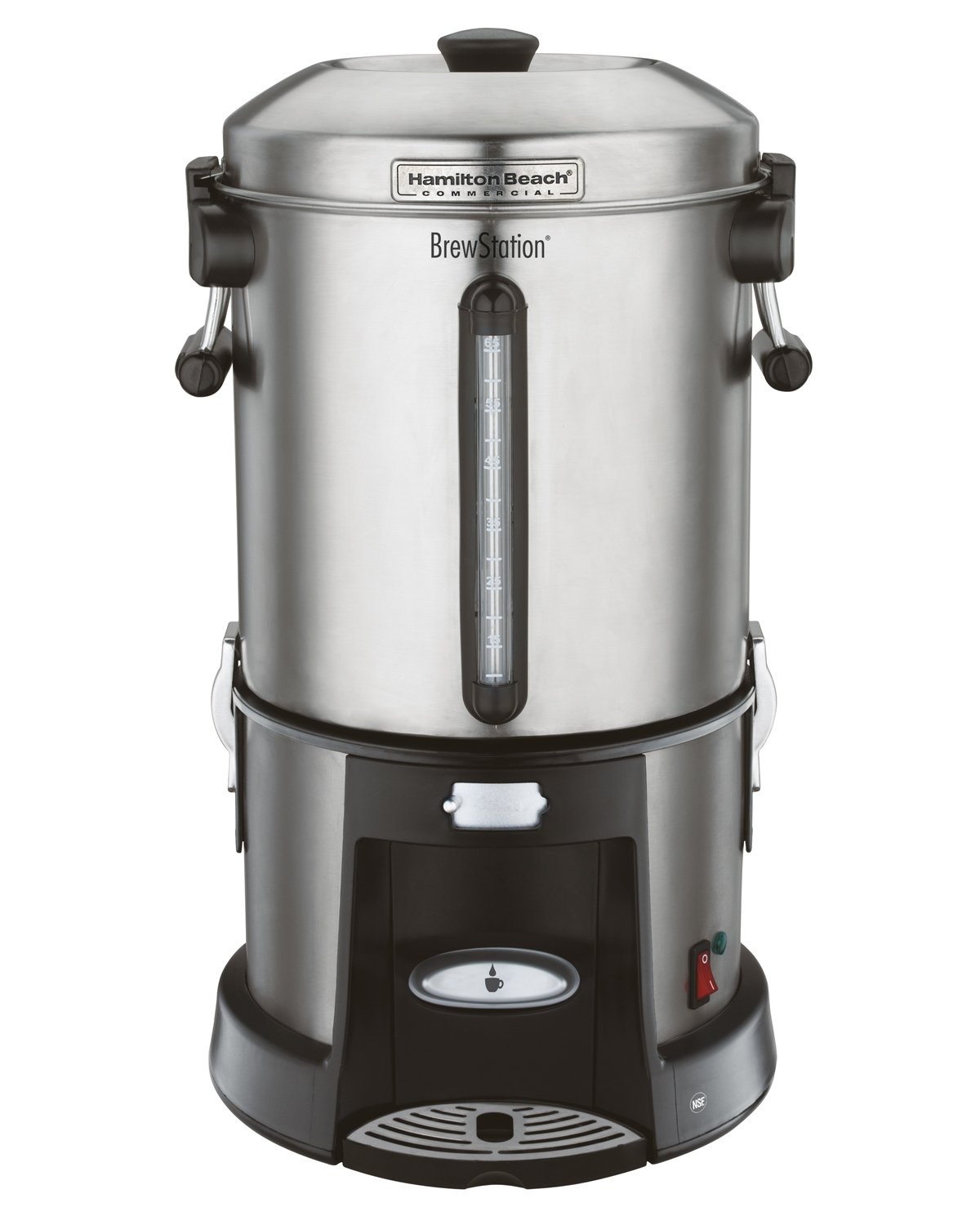 Hamilton Beach Commercial HCU065S  Brewstation Coffee Urn 65 Cup, Removable Tank, Speed Brewing, One Hand Dispensing, Stainless Steel