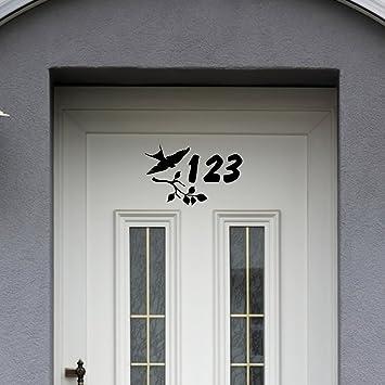 Malango Aufkleber Vogel Hausnummer Turaufkleber