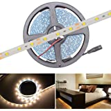 Hitlights Weatherproof Warm White Flexible Ribbon LED Strip Light, 300 LEDs, 5 Meters (16.4 Feet) Spool, 12VDC Input (Adapter not included)
