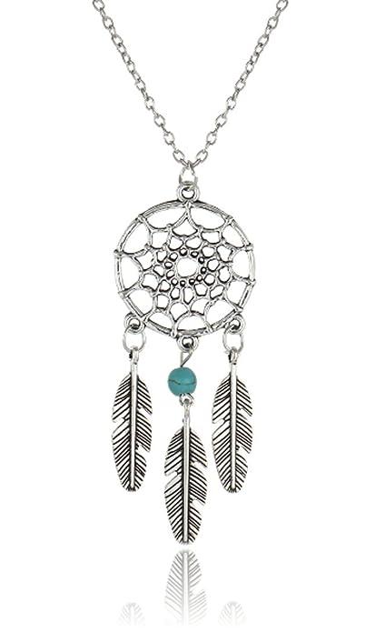 Halskette Indianer Damen I Deluxe I Braun mit Federn und Fransen