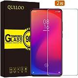 【2枚セット】 QULLOO Xiaomi Mi 9T Mi 9 T (Redmi K20) ガラスフィルム 【貼り付けキット付き】 【日本製素材】硬度9H 飛散防止 指紋防止 3Dtouch対応 気泡ゼロ 高透過率 ラウンドエッジ加工 保護フィルム