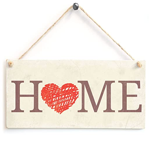 Home - Love Heart Welcome Home Cartel de madera regalo ...