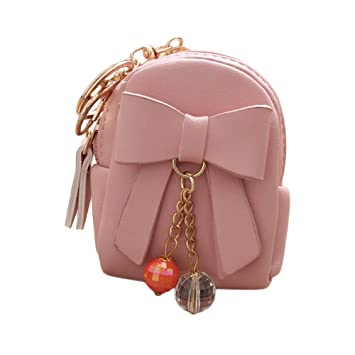 Amazon.com: Love Environment Women Leather Mini Bowknot ...
