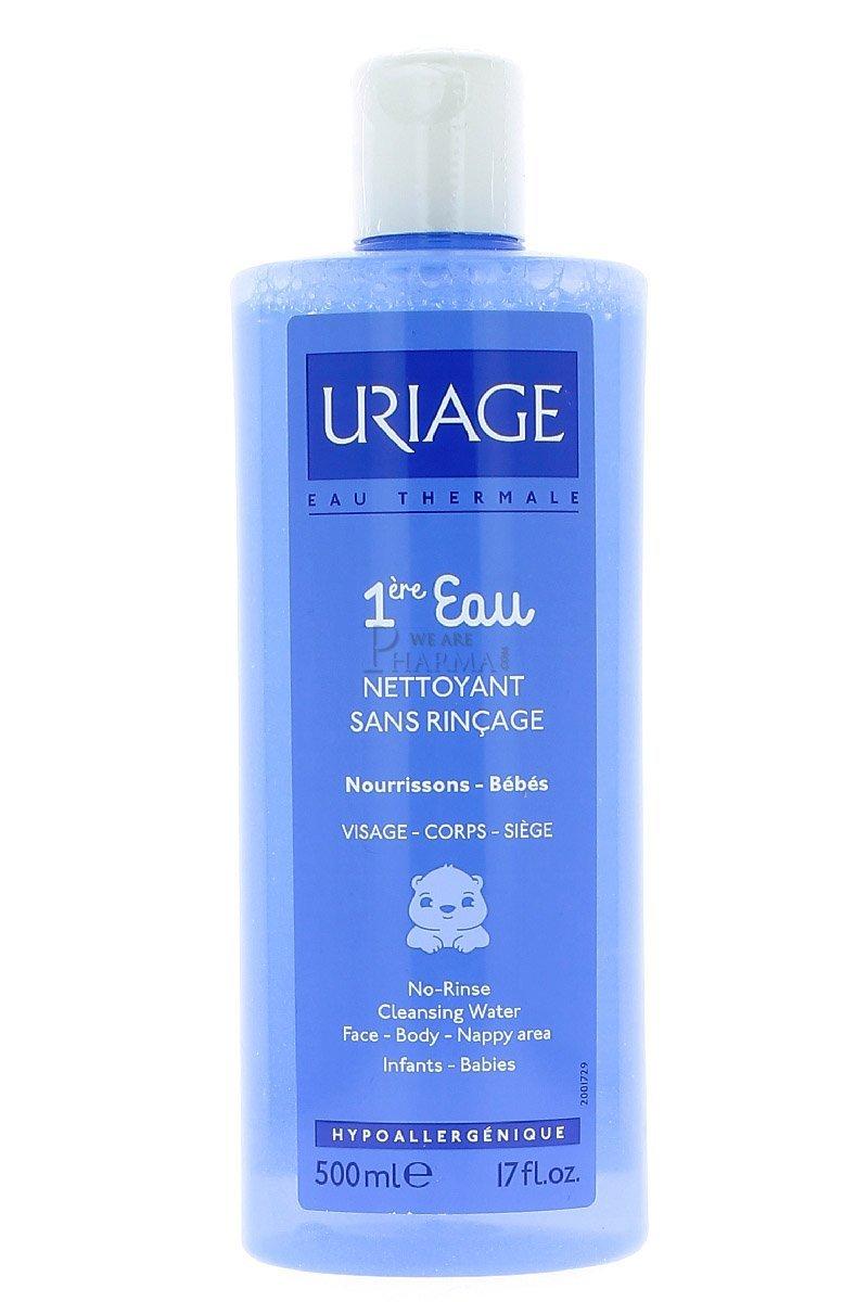 Uriage - Agua de limpieza sin enjuague para bebés, 500 ml URIURIU73000416