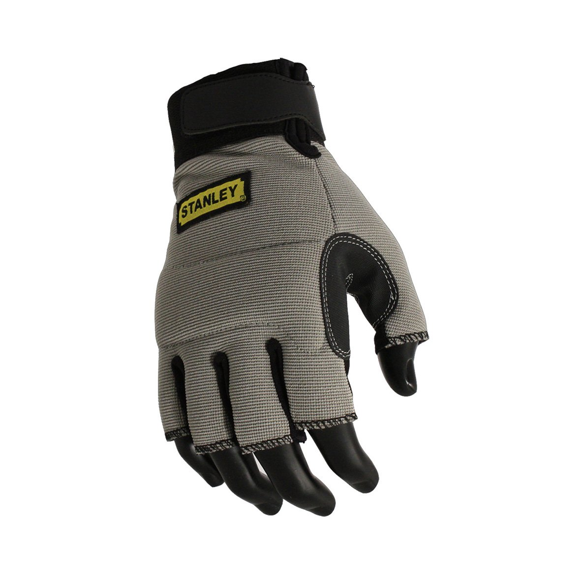 Leather work gloves screwfix - Stanley Sy640l Fingerless Performance Glove