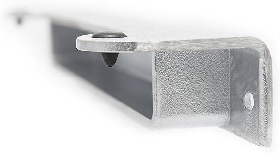 Aluminio Natural ángulo de bisagra puerta bisagra I I Cerradero I Bisagra Puerta Puerta PARA Jardín I I ángulo I drehflüg eltor I Tor I doble varilla: Amazon.es: Jardín