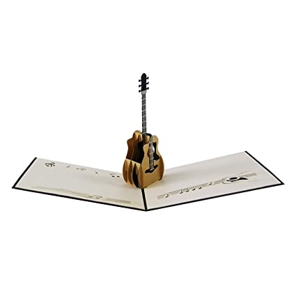 Amazon Jerry Maggie Pop Up Greeting Card Passion Guitar