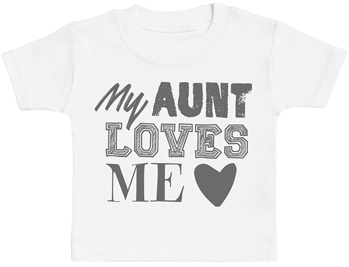 Baby Tee Baby Tshirt Gift Baby Gift My Aunt Loves Me Baby T-Shirt