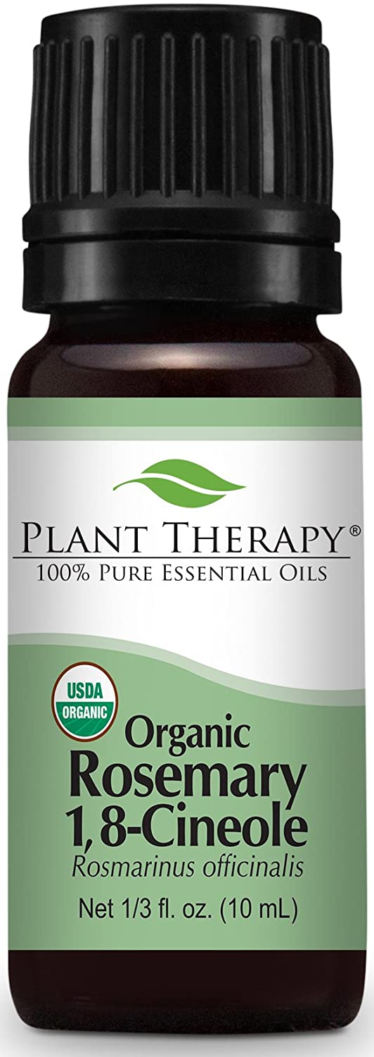 Organic Rosemary Essential Oil. 100 ml (3.3 oz). 100% Pure, Undiluted, Therapeutic Grade. Plant Therapy Essential Oils