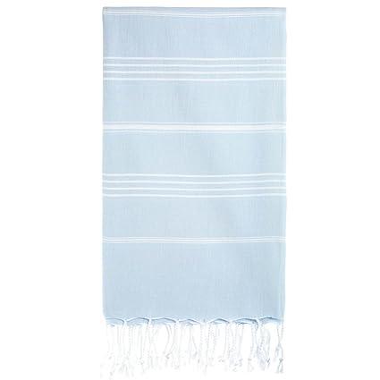 Cacala Toallas de baño Turco de Serie, algodón, Azul Celeste, 95 x 175
