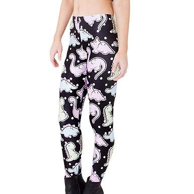 Femmes Yoga Pantalon De Mode Style de Fête Mignon Petit Dinosaure Imprimer  Jambières Taille Haute Sport Pantalon Décontracté Embarquement Randonnée  Danse  ... e318455c628