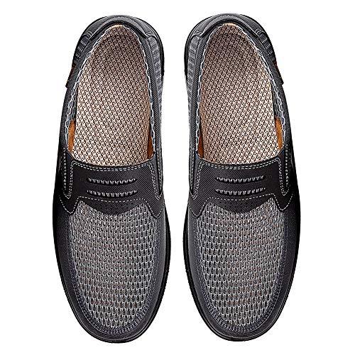 Mocassins Hommes Glisser Engrener Été Chaussures Sur Gris Jamron Respirant Décontractée Léger Poids SFqCnTIx