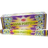 Good Fortune - Box of Six 20 Gram Tubes - HEM Incense