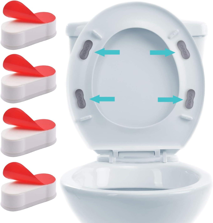 4PC Toilet Seat Bumpers Set Universal Bathroom Household Bedroom Seat Bumper Kit