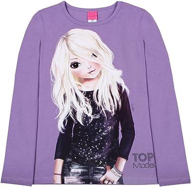 violett Top Model M/ädchen T-Shirt