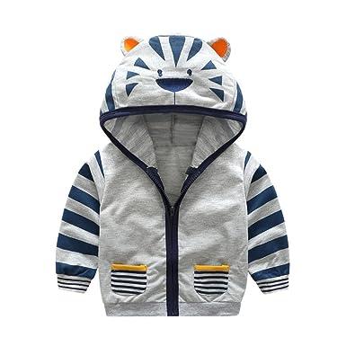 3ca938400dfe Amazon.com  Infant Toddler Boy Girl Cartoon Animal Hooded Zipper ...