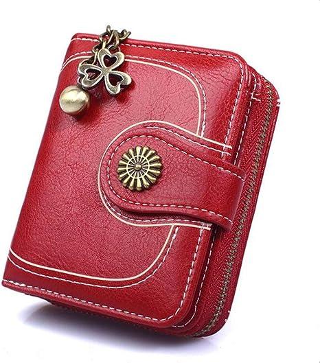 Mini Portafoglio Piccolo Portamonete Pelle Cerniera Borsette per Donna Ragazza