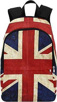 InterestPrint Vintage British Union Jack Flag Casual Backpack College School Bag Travel Daypack