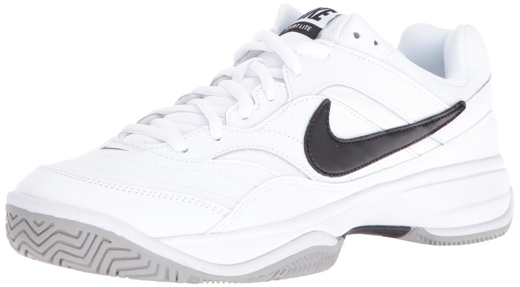NIKE Men's Court Lite Tennis Shoe, White/Medium Grey/Black, 11.5 D(M) US by Nike