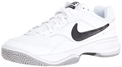 NIKE Men's Court Lite Tennis Shoe, White/Medium Grey/Black, 10.5 D