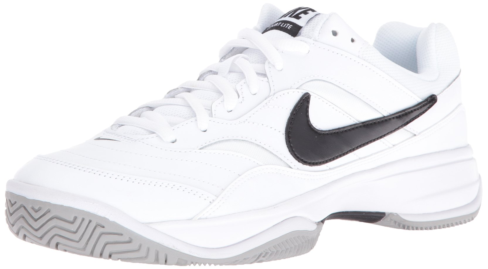 NIKE Men's Court Lite Tennis Shoe, White/Medium Grey/Black, 6.5 D(M) US by Nike (Image #1)