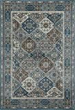Art Carpet Arabella Collection Comfort Panel Woven Area Rug, 7'10'' x 10'6'', Blue/Gray