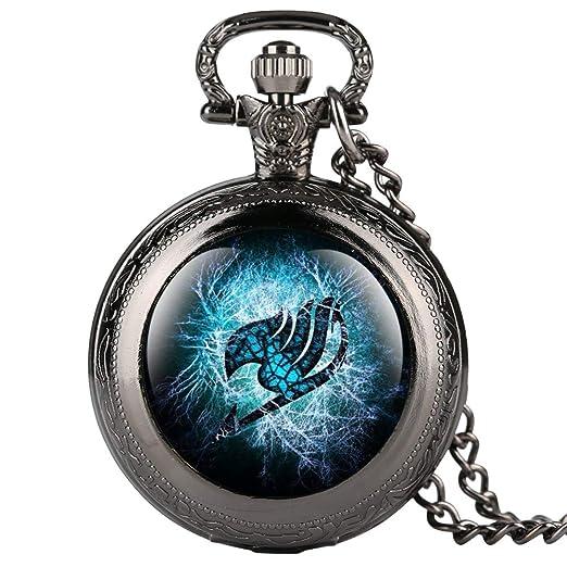 Reloj de Bolsillo Negro con diseño de Hada de Dibujos Animados para niños, Reloj de Bolsillo Digital árabe para Adolescentes, el Mejor Reloj de Bolsillo ...
