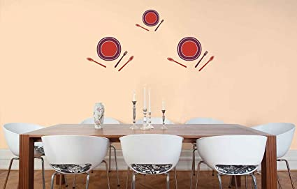 Asian Paints Royale Play Wall Fashion Bon Appetite Stencil Sticker For Home And Office