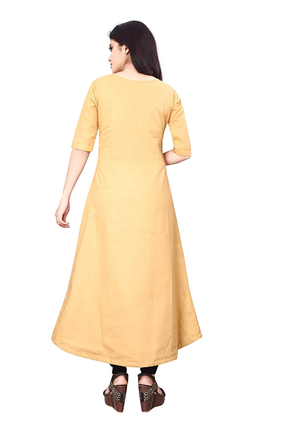 Beige Anarkali Kurta For Women's