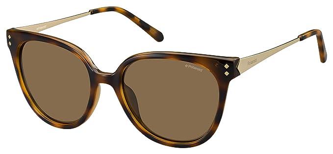 enorme sconto b6e9d 8bf66 Polaroid Women's PLD 4047/S IG Sunglasses, Havana Gold, 54 ...