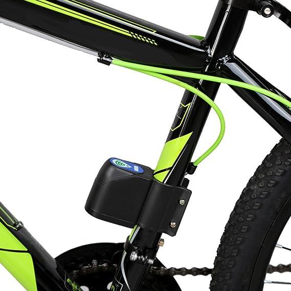 Mengshen Alarma Bici de Bicicleta, Anti-Robo de Alarma con Control Remoto, Z04