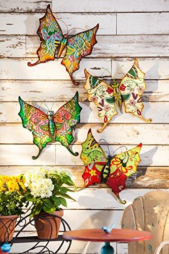 Cape Craftsmen Boho Metal Butterflies, Set of 4
