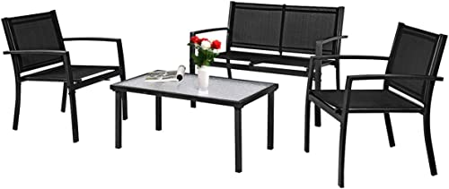 Tangkula Patio Furniture Set 4 PCS